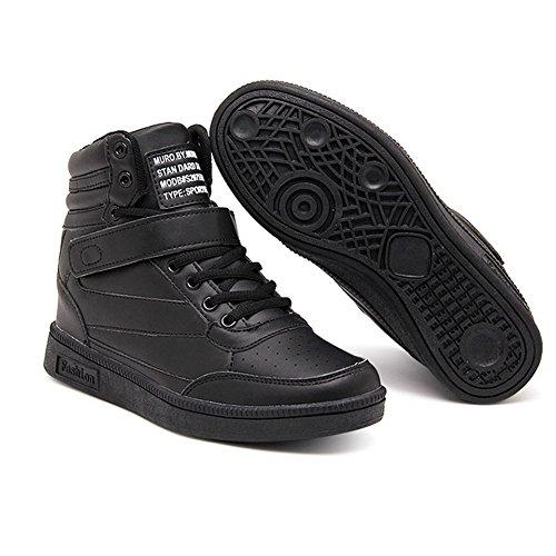 Blanc Fitness Cm Compensées De Chaussures 7 Happygo Rose Chaussure Noir Sneakers Femme Gym Talon Sport Compensé wB6xTa