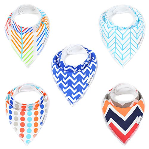 baby-bandana-drool-bib-gift-set-5-pack-for-boys-tangled-up-in-blue-set-by-oma-opa