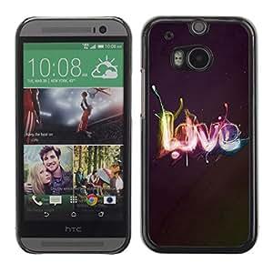 Be Good Phone Accessory // Dura Cáscara cubierta Protectora Caso Carcasa Funda de Protección para HTC One M8 // Effects LOVE