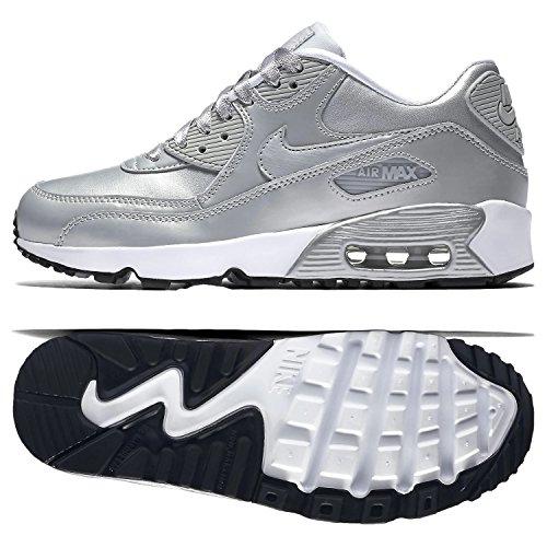 Nike Air Max 90 LTR GS Running Shoe (6.5 M US Big Kid, MTLC Platinum/MTLC - Ambassador Brand Running