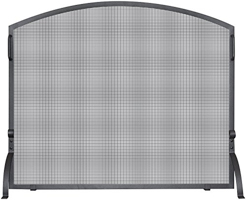 UniFlame S-1182 Single Panel Olde World Iron Arch Top Screen, Small