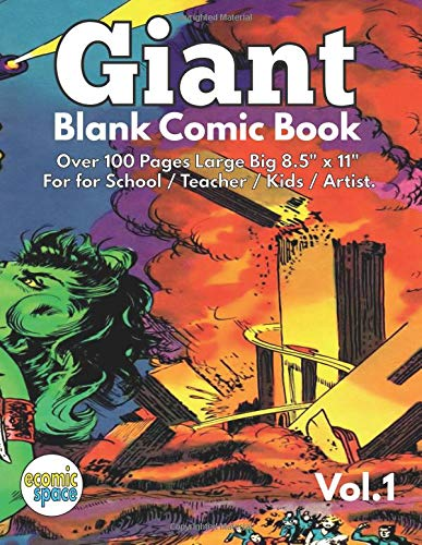Giant Blank Comic Book Vol. 1 (Blank Cómic Book) (Volume 1): Israel Escamilla: 9781978089440: Amazon.com: Books