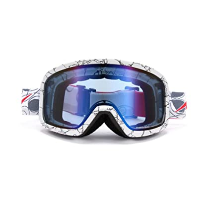 c10e29f5f3c9 Image Unavailable. Image not available for. Color  He-yanjing Ski Goggles  ,Double Lens ,Snowboarding Goggle , Anti-Fog Snow