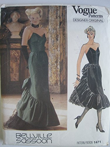 vogue-pattern-1471-bellville-sassoon-designer-original-misses-dress-size-10