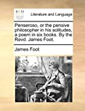 Penseroso, or the Pensive Philosopher in His Solitudes, a Poem in Six Books by the Revd James Foot, James Foot, 1140779192