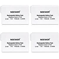 Neewer® (4 Pack) Rechargeable Replacement LP-E8 Li-ion 7.4V 1140mAh Battery for BG-E8 Battery Grip, Canon EOS 550D 600D 650D 700D Digital Rebel T2i T3i T4i T5i