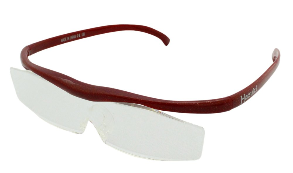 Hazuki Magnifying Glasses Loupe Magnifier Clear Lenses Red