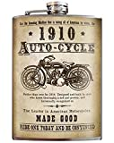 Auto-Cycle 1910 Bike Vintage Flask - 8oz Stainless Steel Flask - come in a GIFT BOX - by Trixie & Milo