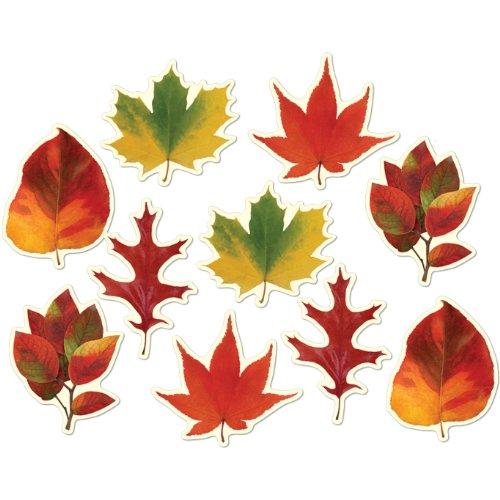 Beistle 99096 Mini Leaf Cutouts, 4