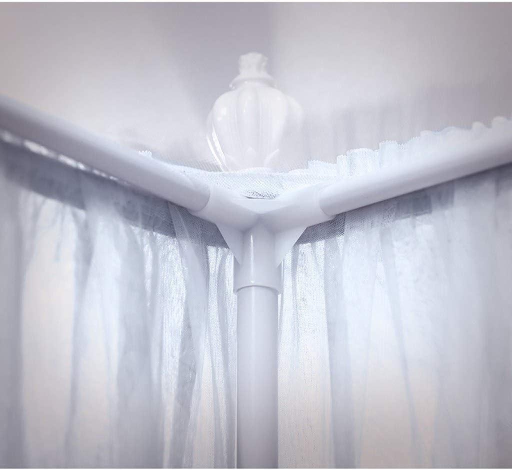 Romantische Prinzessin Lace Canopy Moskitonetz mit vier Tr/ägern Schlafzimmer-Dekoration Drei seitliche /Öffnungen 4 Corners Beitrag Himmelbett Vorhang for M/ädchen und Erwachsene Gr/ö/ße : 1.2mbed