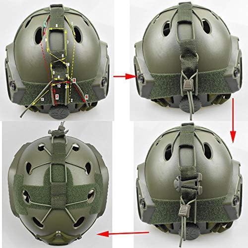 JADEDRAGON Tactical Airsoft Helmet Accessories Bungee Gear Retention System for BJ PJ Fast Bump Helmet