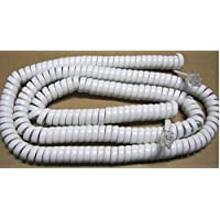 Bright White 21 Ft Handset Phone Coiled Cord