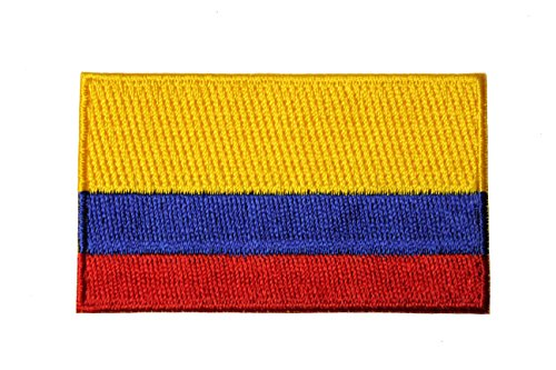 Colombia Country Flag - Colombia Country Flag Embroidered Iron on Patch Crest Badge. Size : 1.5