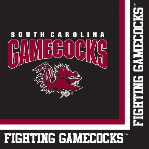 South Carolina Gamecocks Lunch Napkins, 20-Count