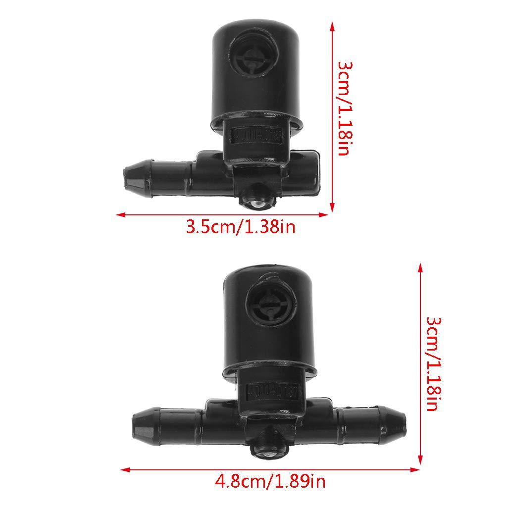 planuuik 2 Pezzi Ventilatori Lavavento Ventilatore Lavavetri per Buick Opel 12782508 12782509 Ugello per Acqua Funzione