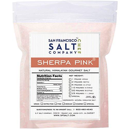 Sherpa Розовый Gourmet гималайская соль (5 фунтов мешок тонкоуровневое)