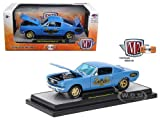 New 1:24 M@ MACHINES DETROIT MUSCLE COLLECTION - BLUE 1966 FORD MUSTANG FASTBACK 2+2 Diecast Model Car By M2 Machines