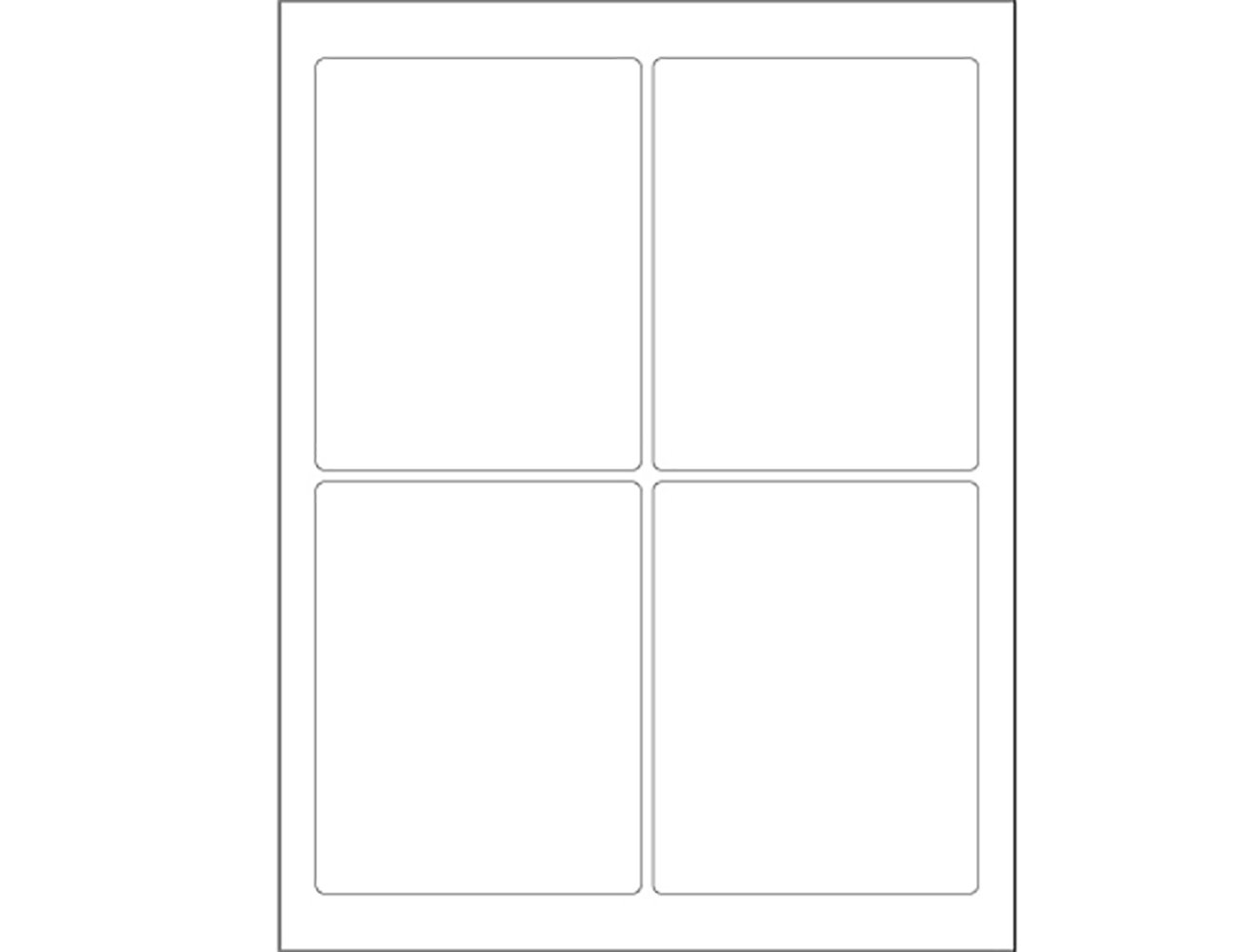 2.25 Height 13 Length RetailSource LL167x1 3 3//4 x 4 3//4 White Rectangle Laser Labels Pack of 400