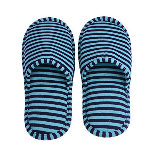 Interno For Per Antiscivolo Colore Blu Di Strisce Uomini Volo Men Pantofole Pieghevoli 1 Sacchetto Stripes Casa Albergo Green Paio Stoccaggio Con HCOq8x7w