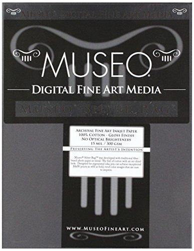 Museo Silver Rag Digital Art Paper, 8.5x11, White