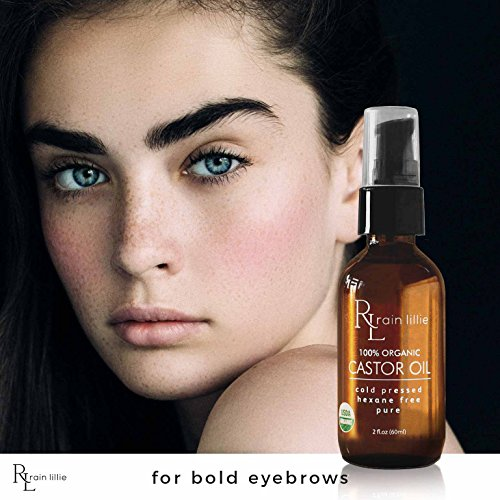 Organic Castor Oil for Hair Growth, Eyelashes, Eyebrows ...