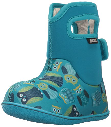 Bogs Baby Bogs Waterproof Insulated Toddler/Kids Rain Boots for Boys and Girls, Owls Print/Blue/Multi, 9 M US Toddler