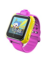 Kids Watch Phone 3G Smart Watch SOS GPS Tracker Q730 with 2.0MP Camera for iPhone and Android Phone (Pink)