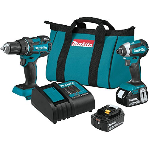 Makita XT279S 18V LXT Lithium-Ion Brushless Cordless 2-Pc. Combo Kit - Kit 3 Tool