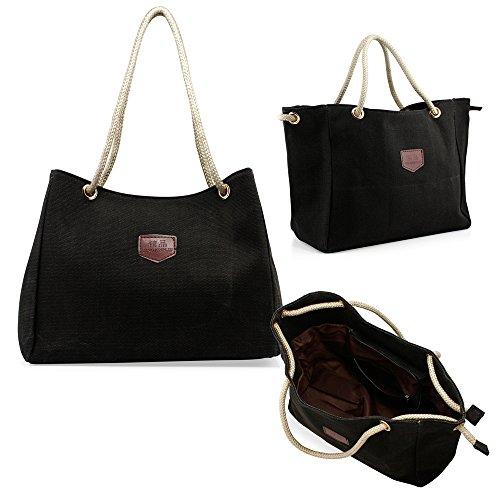 oct17-women-lady-fashion-tote-canvas-shoulder-bags-hobo-messenger-handbag-bag-purse-black
