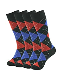 SUTTOS Men's Casual Custom Elite Funky Patterned Crew Dress Socks,2-12 Pairs