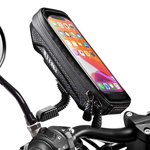 WACCET [Neue Generation] Motorrad Handyhalterung Wasserdicht Smartphone Halterung Motorrad 360°drehbar mit Regenschutz…