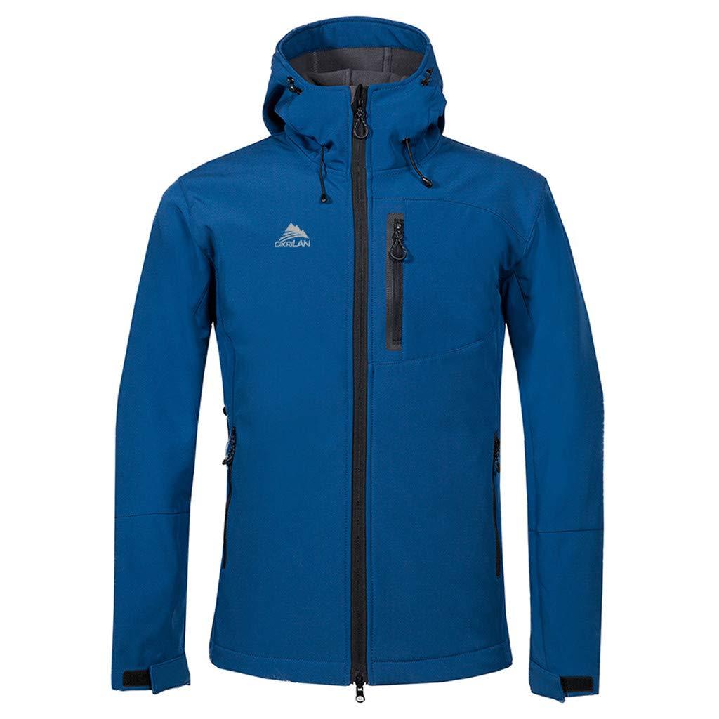 Vickyleb Windbreaker Men Waterproof Lightweight Breathable,Men's Waterproof Raincoat Outdoor Hooded Rain Jacket Windbreaker Blue by Vickyleb