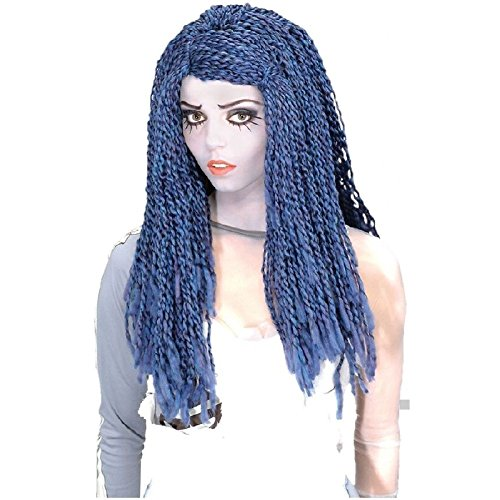 Corpse Bride Wig Adult Womens Blue & White Halloween Costume Accessory