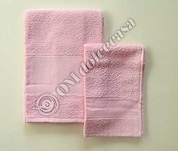 Juego Baño Esponjas Esponja salvietta Viso + invitados 100% Esponja con inserto de tela aida para punto a punto de cruz color rosa: Amazon.es: Hogar