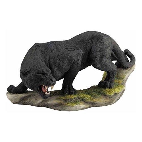 XoticBrands - Estatua de Animal, diseño de Pantera de Peluche, Color Negro