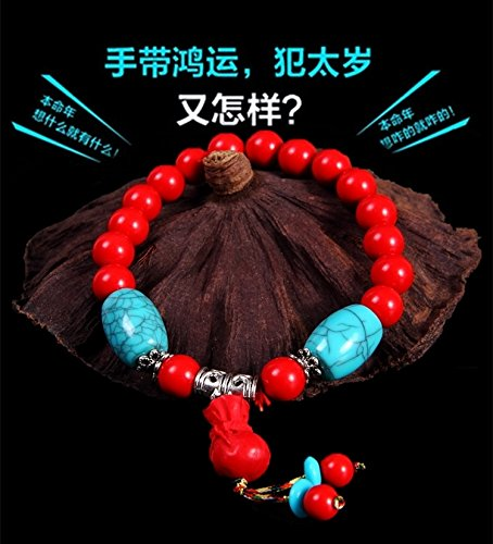 Generic Every day special] genuine cinnabar couple hand chain bracelet bangle wristband bracelets men and women of prayer beads to ward off evil transit beads birthday gifts