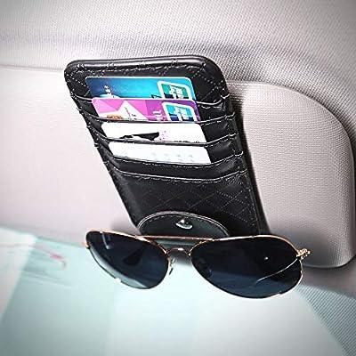 Vozada Car Tissue Holder with Extra Car Visor Organizor, Sun Visor Tissue Holder PU Leather Car Napkin Holder, Car Tissue Box Backseat Tissue Case Car Tissue Dispenser: Automotive
