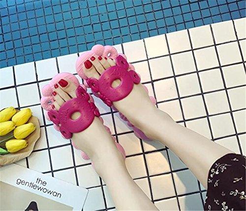 für Dicke Cool Frauen Badeschuhe Rose Indoor weibliche Rutschfeste Sommerhaus TELLW Hausschuhe Unterseite männlich fn5ZqxxwO0