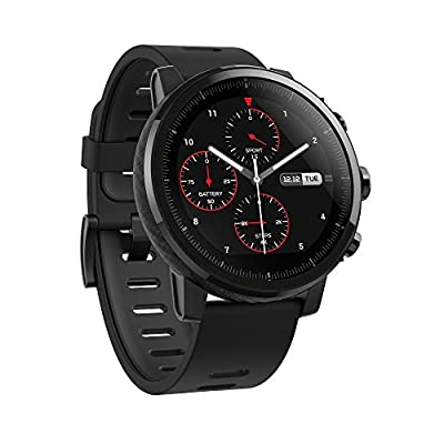 Amazfit Stratos Multisport Smartwatch by Huami with VO2max, All-day Heart Rate and Activity Tracking, GPS, 5 ATM Water Resistance, Phone-free Music, US Service and Warranty (A1619, Black)