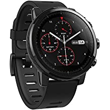 Amazfit Stratos Multisport Smartwatch with VO2max, All-Day Heart Rate and Activity Tracking, GPS, 5 ATM Water Resistance, Phone-Free Music, US Service and Warranty (A1619, Black)