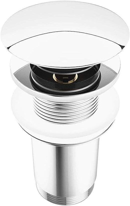 Runde Messing Chrom Pop Up Ablaufventil Abfluss Ablaufgarnitur für Waschbecken