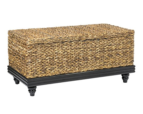East at Main Coolidge Brown Natural Fiber Abaca Rectangular Coffee Table, 38''x20''x18'' by East At Main