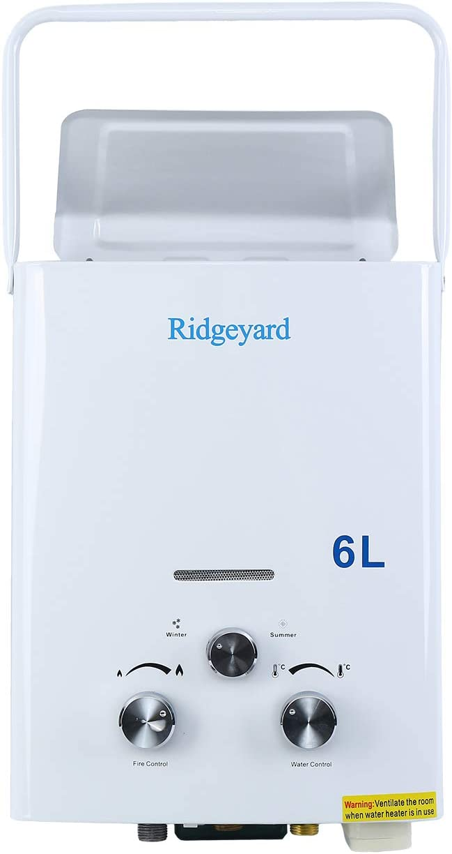 Iglobalbuy 6L Tankless LPG Propane Gas Water Heater Instant Boiler for Home use