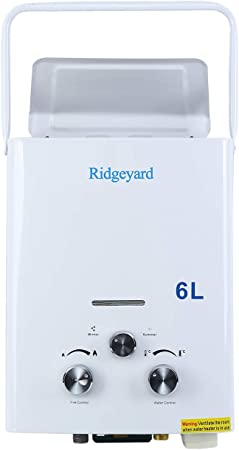 Iglobalbuy Calentador de agua a gas atmosférico sin tanque Calentador de agua a Gas GLP Butano Propano (6L)