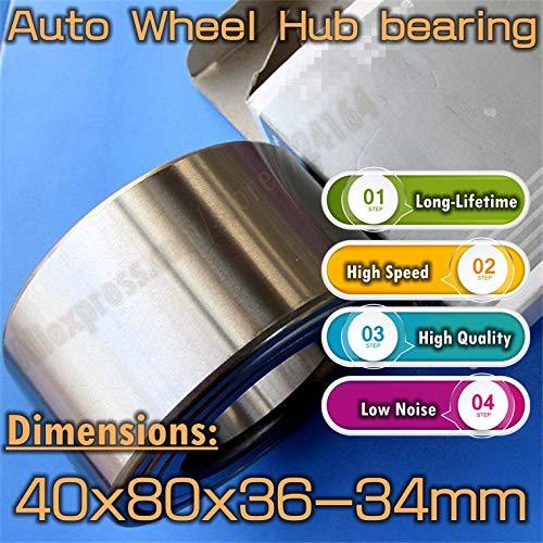 Ochoos Long-Lifetime High Speed Car Bearing Auto Wheel Hub Bearing DAC40800036/34 408036/34 40x80x36/34 mm ()
