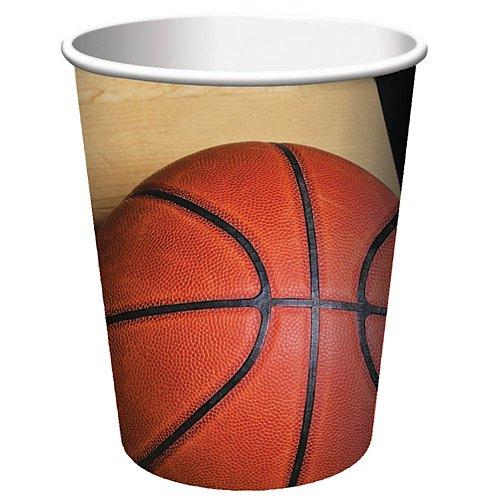 - Creative Converting 8 Count Sports Fanatic Basketball Hot/Cold Cups, 9 oz, Multicolor