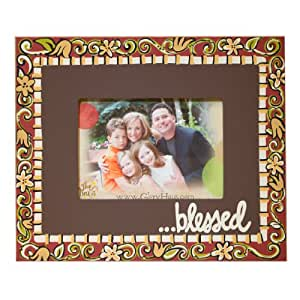 Glory Haus Blessed Floral Frame, 12 by 10-Inch