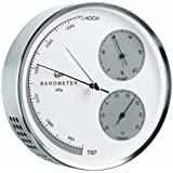 Barigo Barometer Thermometer Hygrometer Wetterstation Edelstahl gebürstet