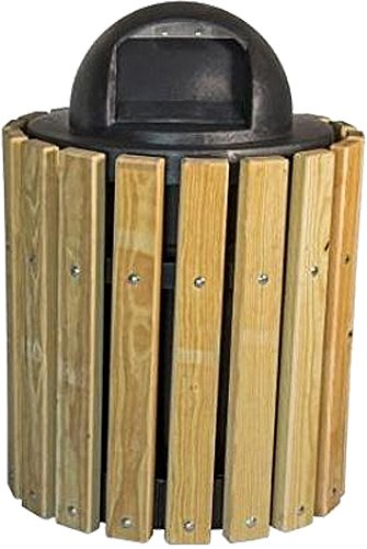 - Kay Park Recreation 13LRSYPP 32 gal Trash Receptacle with Southern Yellow Pine Slats, Free Standing, Wood, Wood