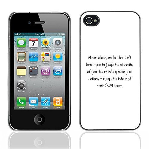 DREAMCASE Citation de Bible Coque de Protection Image Rigide Etui solide Housse T¨¦l¨¦phone Case Pour APPLE IPHONE 4 / 4S - SINCERITY OF YOUR HEART